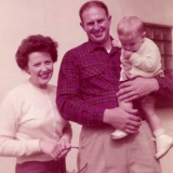 1958 Ted, Rosemary & son Ted