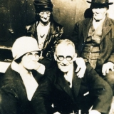 1929 John W & Margaret Givens with Bill & Min Cardiff (in front)