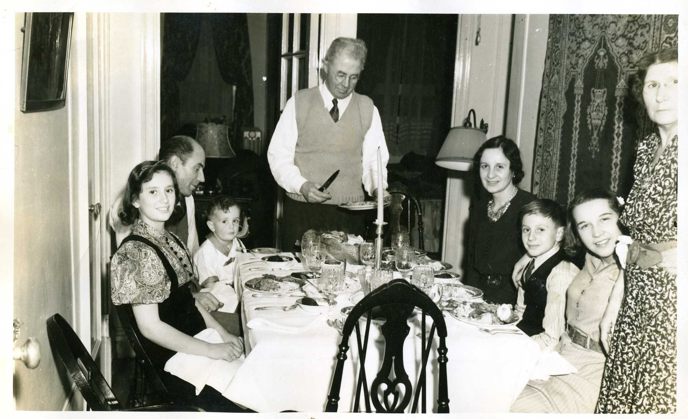 1940 Dunham family & Gramp \ Gram Brown